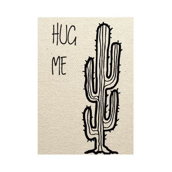 wenskaart cactus Hug me
