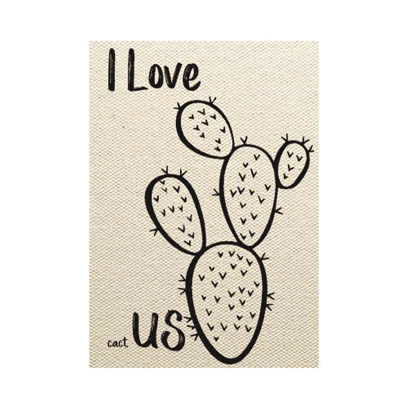 wenskaart cactus I love cactus