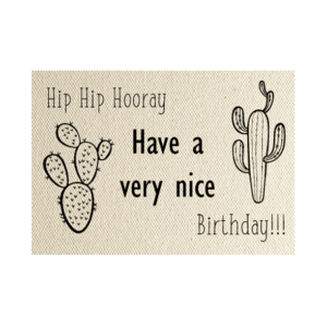 wenskaart cactus hip-hip-hooray-have-a-nice-birthday
