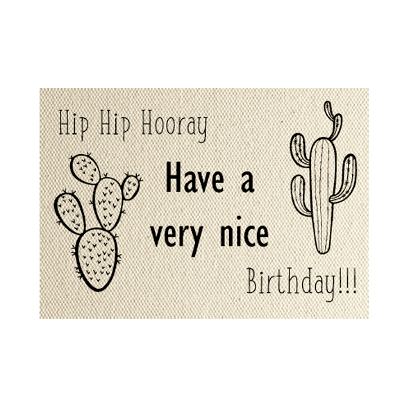 wenskaart cactus hip-hip-hooray-have-a-nice-birthday