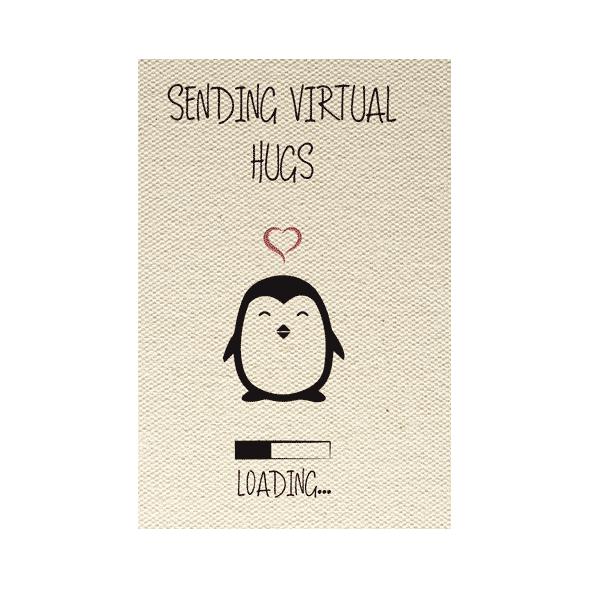 wenskaart sending virtual hugs loading...